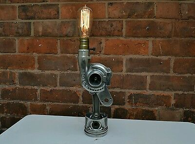 Vintage Industrial Retro Style Turbo Charger Handmade Desk Table Lamp Edison