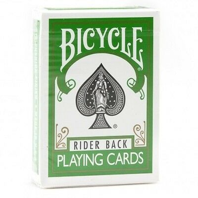 1 Deck of Bicycle Green Rider Back Playing Cards (GREEN) Standard Edition Deck