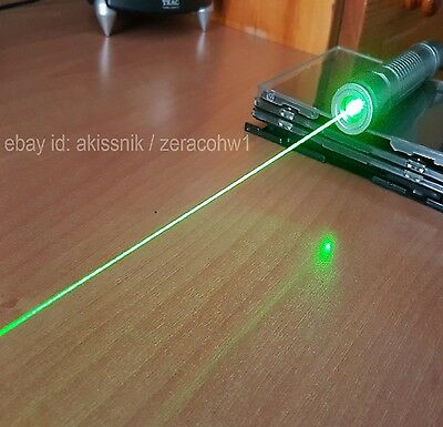 High Power Green Laser Pointer Pen Adjustable Focus 532nm Wicked Burning Lazer