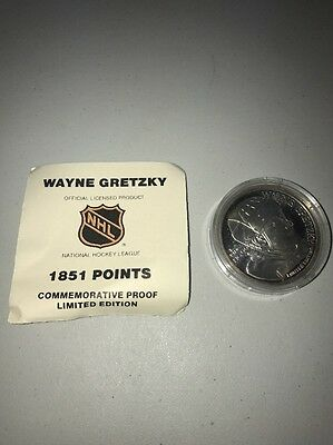 Wayne Gretzky .999 Fine Silver Proof Like Coin 1 Troy Oz