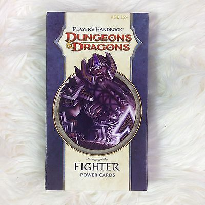 New Dungeons and Dragons D&D Player's Handbook Fighter Power Cards