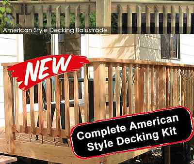 complete american style garden decking kits balustrade spindles decking spindles