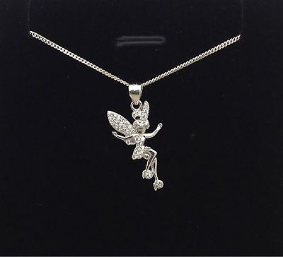 925 sterling silver fairy tinkerbell pendant necklace chain cz uk 925 sterling silver fairy tinkerbell pendant necklace chain cz uk seller aloadofball Gallery