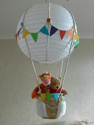 Winnie and friends  in Hot Air Balloon light lamp  shade     Made To Order