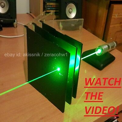 Super Powerful Green Laser Pointer Pen Focusable Burning Beam Wicked 532nm Laser