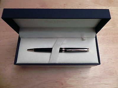 Waterman Hemisphere #S0920670 Black Lacquer & Gold Ball Point Pen New In Box