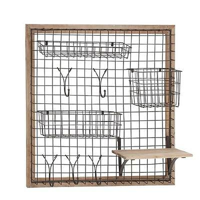 Wood and Metal Storage Wall Rack August Grove FREE SHIPPING (BRAND NEW)