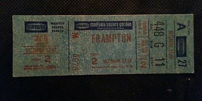 Peter Frampton Msg, Ny 1977 Unused  Real Ticket Good Condition