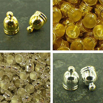 10 50 100 11x8mm Gold or Silver FINDINGS TASSEL END CAPS JEWELLERY FINDINGS