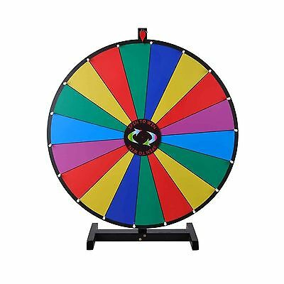 18 Segment 30 inches Tabletop Colorful Spin Prize Wheel for Fortune Carnival ...