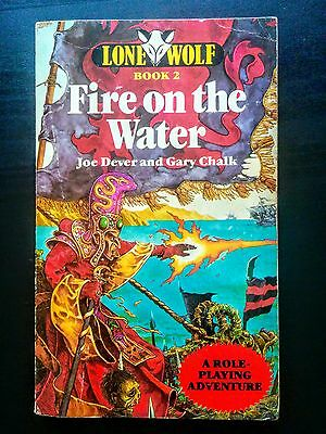 Lone Wolf Book 2 - Fire on the Water (Fantasy Adventure Gamebook, 1984)