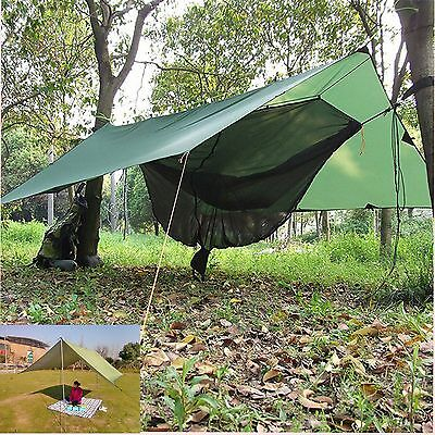 Portable Waterproof Rain Cloth Sun Shade Tarp Tent Lightweight Shelter 300*300cm