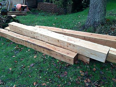 Timber Sawn & Supplied Larch Posts 8x8 10 Ft Long