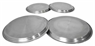 Set Of 4 Stainless Steel Metal Chrome Electric Cooker Hob Ring Cover Protector