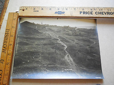 B36 WWI Aerial Photo 5th Air Corp 1st Army MONTFAUCON Battle Field Shell Holes