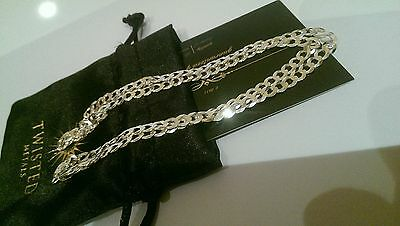 Brand New ! stamped 20 INCH 925 solid sterling silver curb chain necklace
