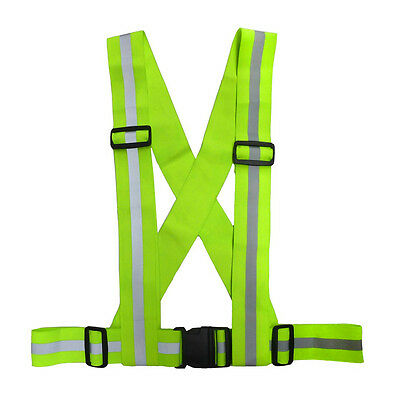 Motorcycle Bike Quad Rider Reflective Hi-Vis High Visibility Brace Belt Clothing
