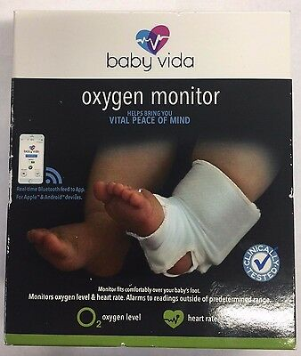 Baby Vida Oxygen Level & Heart Rate Monitor - White - New Sealed....A1