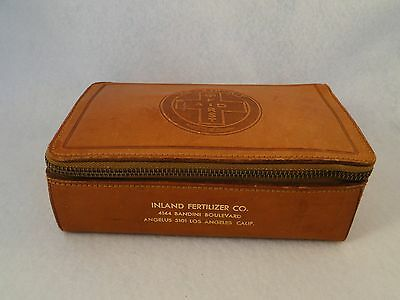"The ""Zip"" Kit First Aid Advertising Leather Case 1950's Most Original Contents"