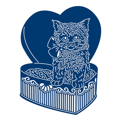 New Tattered Lace 'CHOCOLATE BOX KITTY' DIE - TLD0008 - FREE 1st Class UK P&P