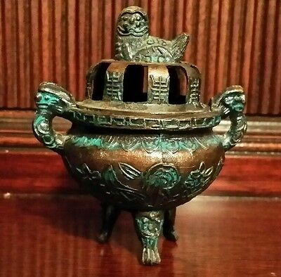 Chinese Incense Burner Replica Miniature Ceremonial Urn Ancient Dynasties