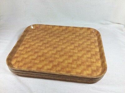 Vintage 6  Camtray Trays Fiberglass Serving Cafeteria Buffet Cambro