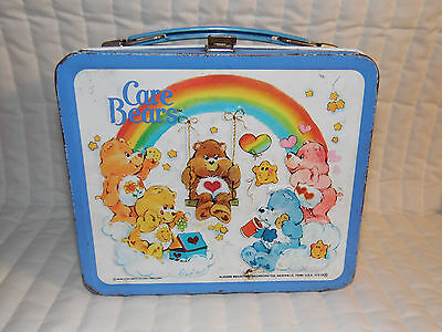 Estate Find 1983 Aladdin Care Bears Metal Lunch Box Missing Thermos