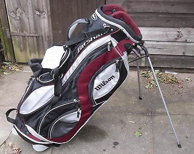 Great Condition Wilson Carry/trolley Golf Bag Free P&p