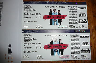 2 tickets depeche mode frankfurt haupttrib ne eur 150 00 picclick de. Black Bedroom Furniture Sets. Home Design Ideas