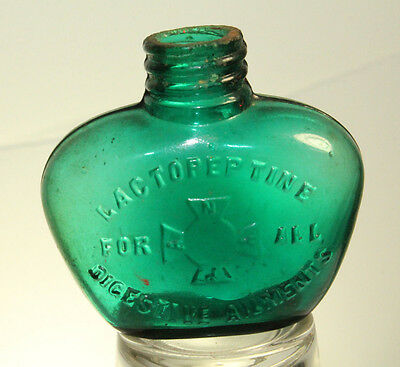 Miniature Green Lactopeptine for all Digestive Ailments sample medicine bottle