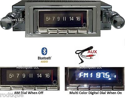 1953-1954 Chevy Car Bluetooth Stereo Radio Multi Color Display WPB USA 740