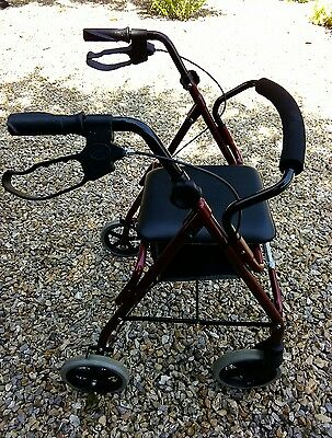 Light weight folding 4 wheeled mobility walking frame/walker/rollator