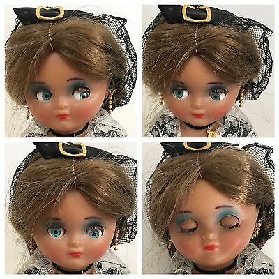 """Doll Googly Eyes Vintage Antique 10"""" Celluloid Plastic"""
