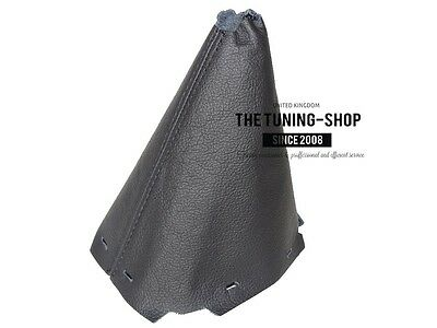 For Kia Venga 2009-15 Manual Gear Gaiter Black Leather With Black Stitching