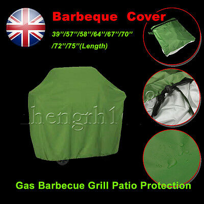 BBQ Cover Outdoor Waterproof Barbecue Covers Garden Patio Grill Protector green