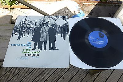 "The Ornette Coleman Trio at the ""golden circle"" Vol.2 UK Blue Note LP Rare"