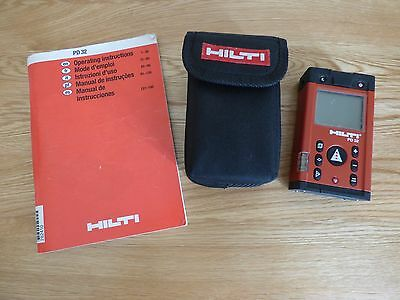 Hilti PD32 Laser Range Meter Measurer Level