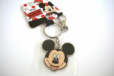 Disney Mickey Mouse Two Sided Angry Pewter Key Ring Keychain Keyring