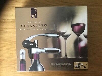 corkscrew  with stopper and stand in original box