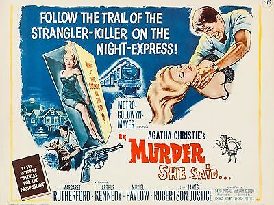 """Murder she Said 16"""" x 12"""" Reproduction Movie Poster Photograph"""