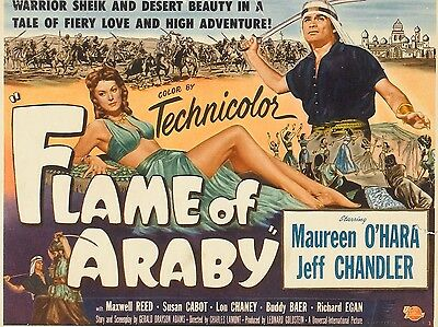 "Flame of Araby 16"" x 12"" Reproduction Movie Poster Photograph"