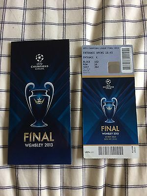 Bayern Munich v Dortmund champions league 2013 final used ticket