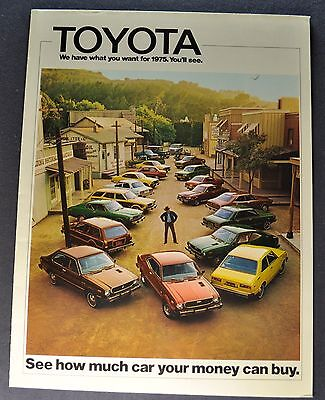 1975 Toyota Brochure Celica Corolla Corona Mark II Land Cruiser Pickup Original