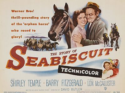 """Seabiscuit 16"""" x 12"""" Reproduction Movie Poster Photograph"""