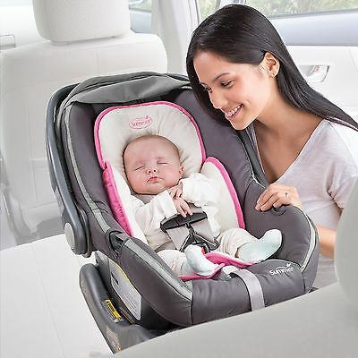 Summer Infant Snuzzler Support for Car Seats and Strollers, Velboa Pink Baby NEW
