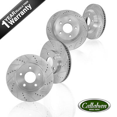 Front & Rear Drilled Slotted Brake Rotors 2011 - 2015 BMW X3 2015 BMW X4