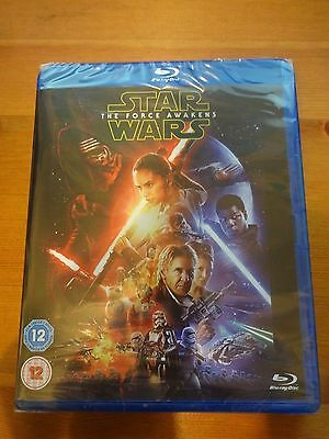 Star Wars NEW + SEALED blu-ray the force awakens disc unwanted gift Film Movie