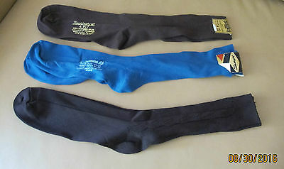 Three Pair of Men's Socks - Fits sizes 10-13 Brown and Teal