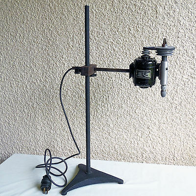 Lab Mixer Bodine Electric N51-12 Motor & A.H. Thomas Glass Rod Holder + stand