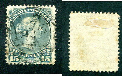 Used Canada 15c Queen Victoria Large Queen Stamp #29 or 30 (Lot #13098)